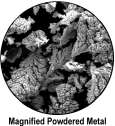 Magnified Powdered Metal