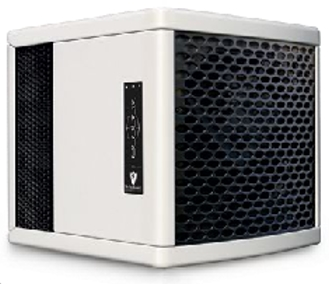 Super Portable Active Air Purification Room Refresher in pearl colored cabinet.